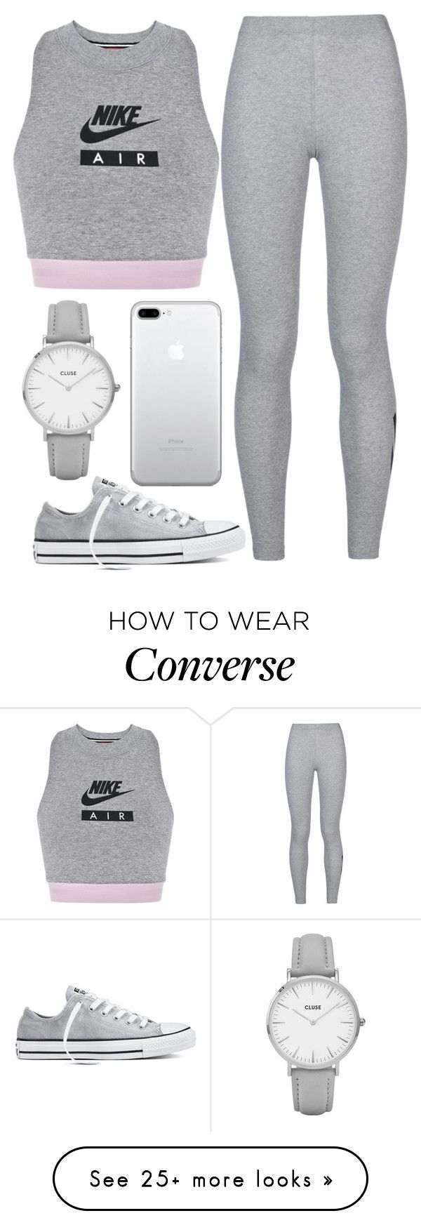 """lazy day"" by j-n-a on Polyvore featuring NIKE, Converse and CLUSE"