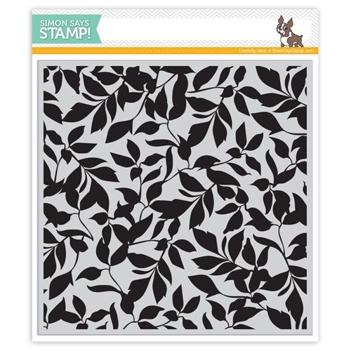 Simon Says Cling Stamp LEAVES BACKGROUND sss101529 STAMPtember