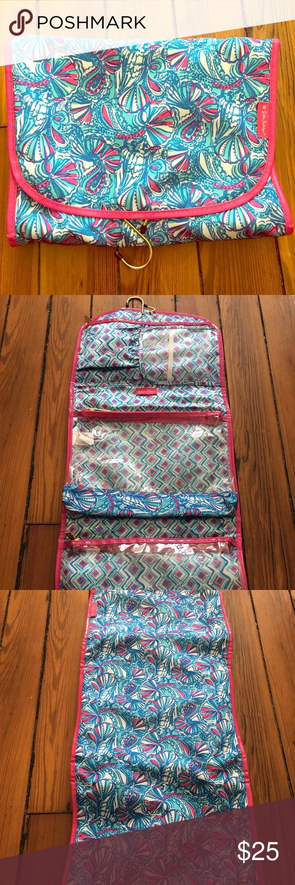 Lilly Pulitzer for Target Hanging Travel Organizer Great condition, only used several times! Lilly Pulitzer for Target Bags Travel Bags