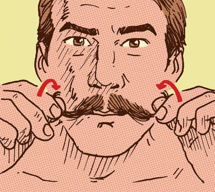 Growing a handlebar moustache