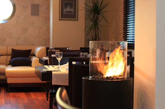 Planika's #fireplace at the #hotel Filmar