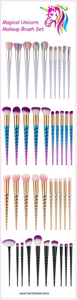 Best Ideas For Makeup Tutorials   : Rainbow Unicorn Lashes  Unicorn Makeup Brush Set