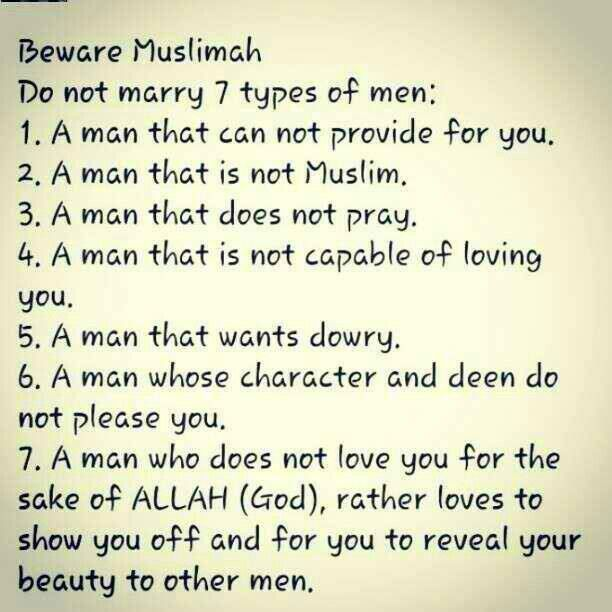 Rules for dating a muslim girl