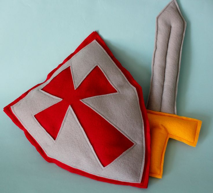 Pretend Sword and Shield - Knight's Shield and Sword Play Set - Soft Felt Play Sword and Shield. $20.00, via Etsy.