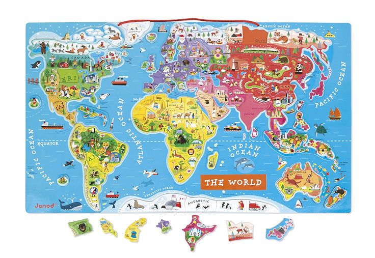 Janod Magnetic World Map: Amazon.de: Spielzeug