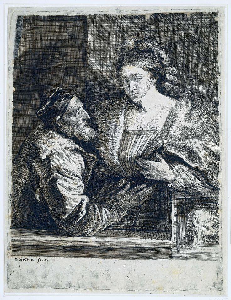 Portret van Titiaan en zijn maitresse, Anthony van Dyck, 1627