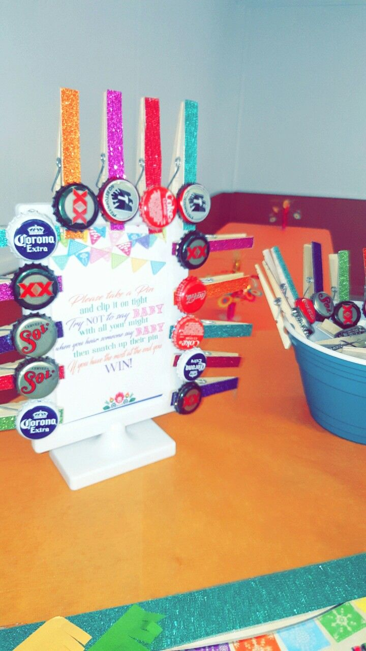 Baby Shower Candy Table 800x450. Clothespins With Bottlecaps Fiesta  Fiestaparty Fiestatheme
