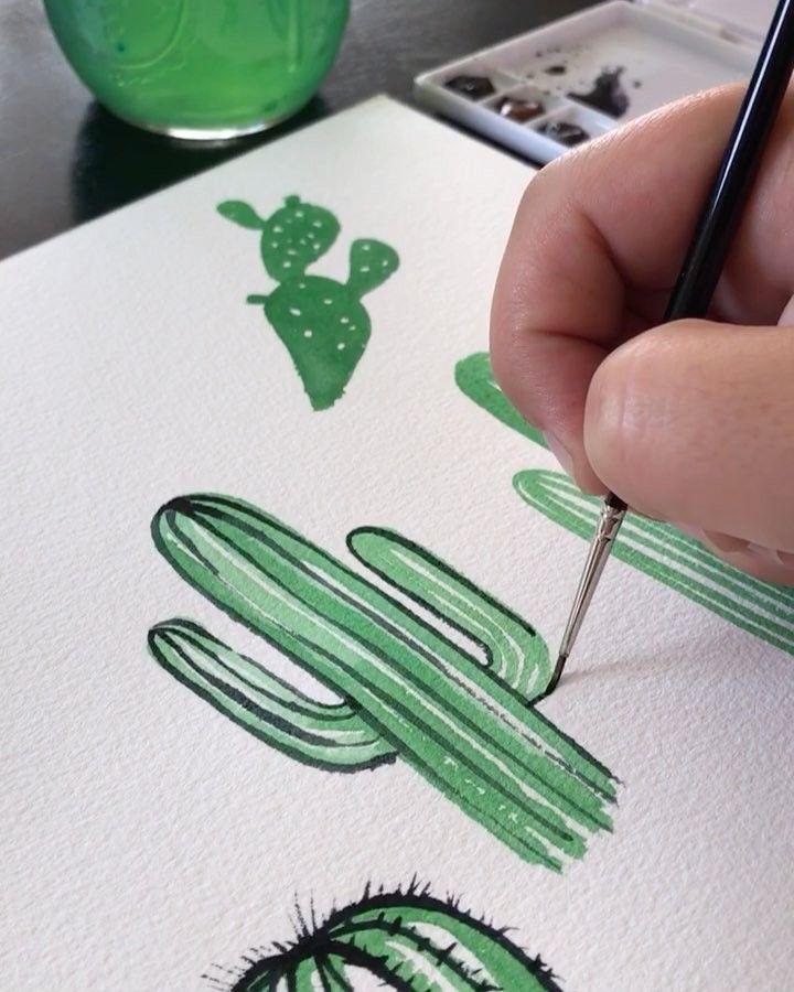 "13.2 mil Me gusta, 149 comentarios – Philip Boelter (@boelterdesignco) en Instagram: ""🌵 erryday I'm doodlin' #art #artist #sketch #watercolor #acry…"