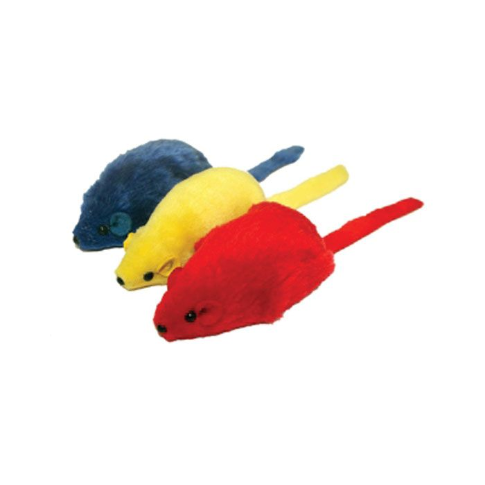 Big Mouse Cat Toy - 3.75 in | Cats love Multipet's Big Mouse cat toy! Unique in size and shape, these fuzzy toys are designed to entertain your favorite feline. Each fuzzy toy comes in assorted colors. Toy measures 3.75 inches. Color selection is not available.