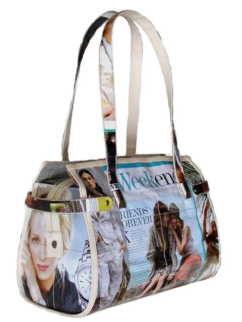 Purses And Handbags Photos Bags Are Formed Into Messenger Tote Diaper Pinterest Recycled Magazines