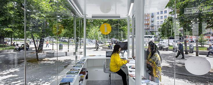 josé manuel sanz arcquitectos madrid tourist information pavillion designboom