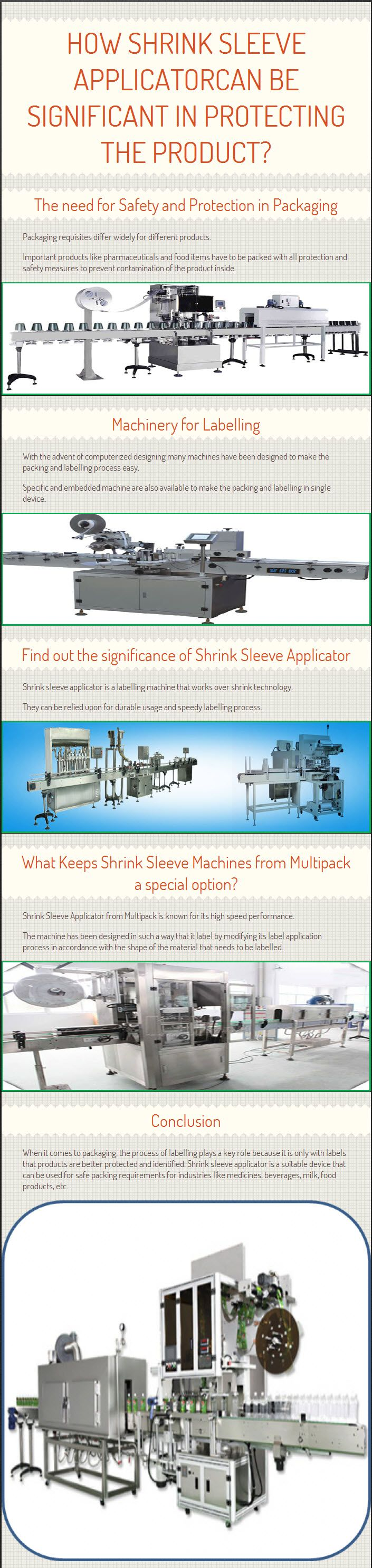 Find out what are the significant features of labelling technology. Learn more about the shrink sleeve applicator machine and its advantages in labelling process. Find out what is significant in http://www.multipackmachinery.com/shrink-sleeve-applicator-machine/. Shrink Sleeve Applicator from Multipack is known for its high speed performance.