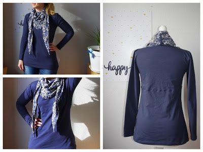 Winterhemd für den Frühling von AnniNanni – DIY Sewing Sewing Pattern Selberma… – SELBERMACHEN