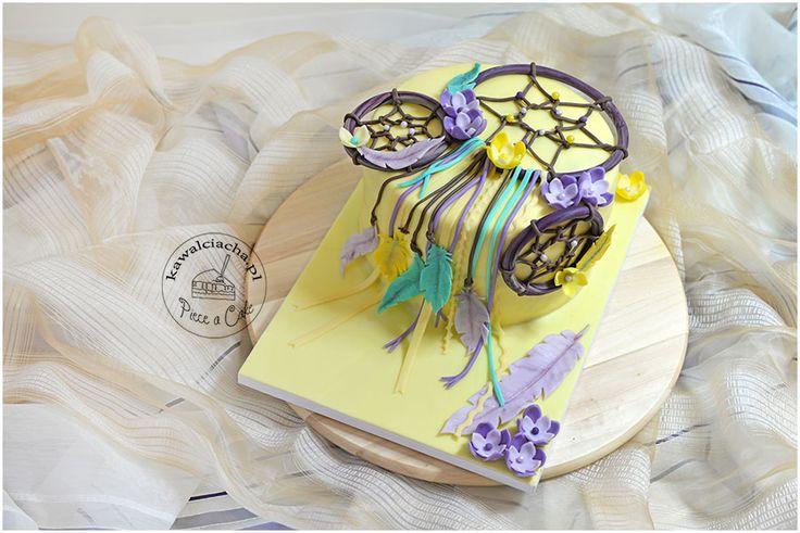 dreamcatcher cake / tort w stylu angielskim z łapaczem snów. więcej na stronie bloga: www.pieceacake.pl
