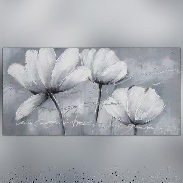 toile fleurs des champs blanches