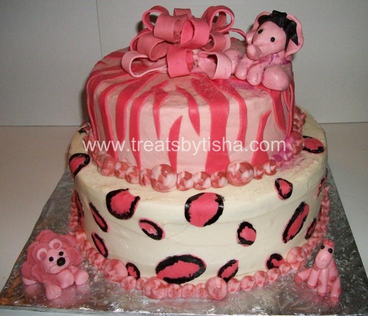 Pink Animal Print Cake