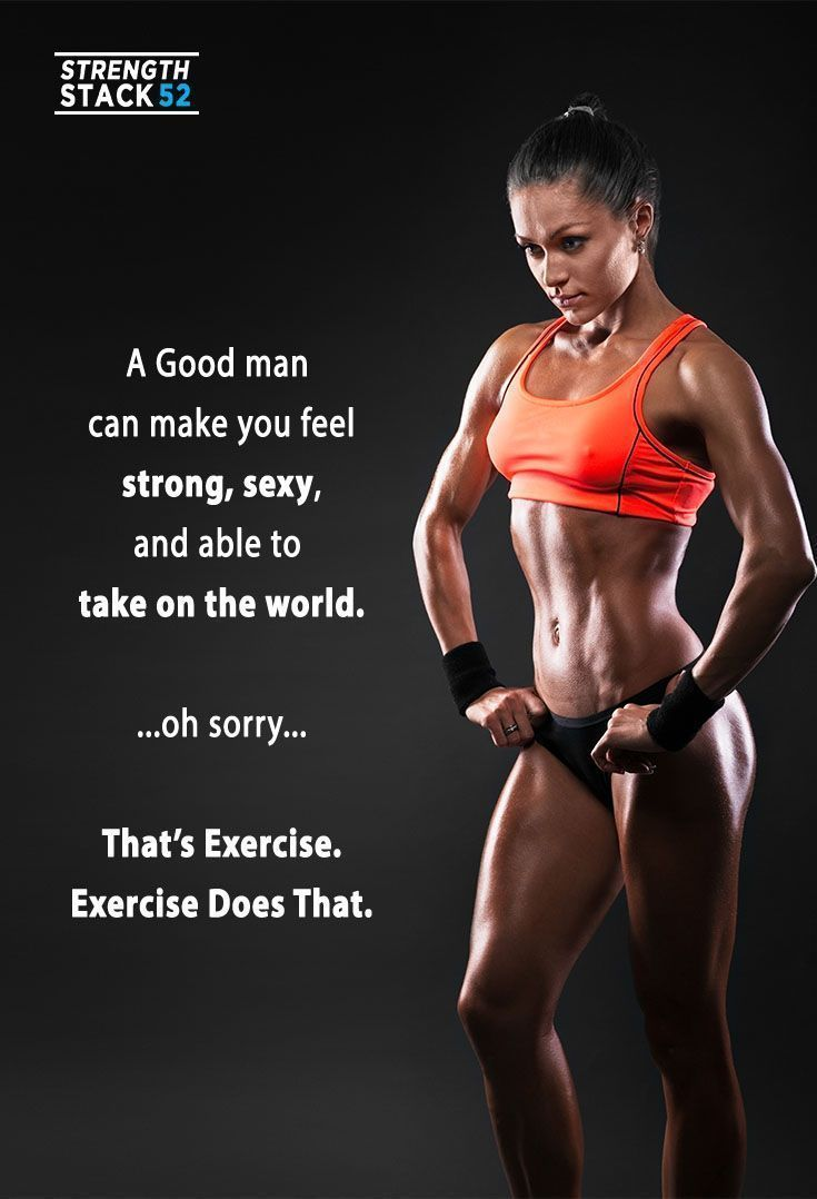 Exercise makes strong, sexy, and confident. http://strength.stack52.com/