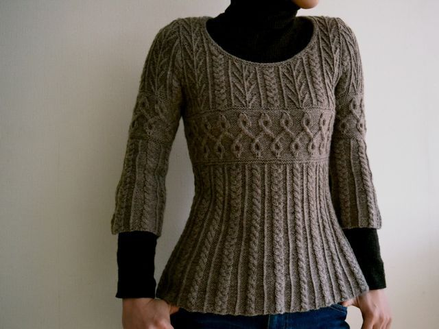 Lovely Cabled Sweater Pattern - Free on Ravelry in Japanese, but using standard charting.
