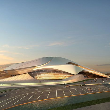Zaha Hadid Architects have unveiled designs for a theatre in Rabat, Morocco.