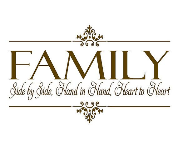 Family Vinyl Wall Decal - Side By Side Hand in Hand Heart to Heart - Christian Family Wall Quote Lettering Vinyl Decals 22h x 36w QT0106 via Etsy