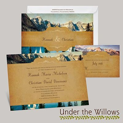 50 best wedding invitations images on pinterest invitation cards mountain wedding invitation stopboris Gallery