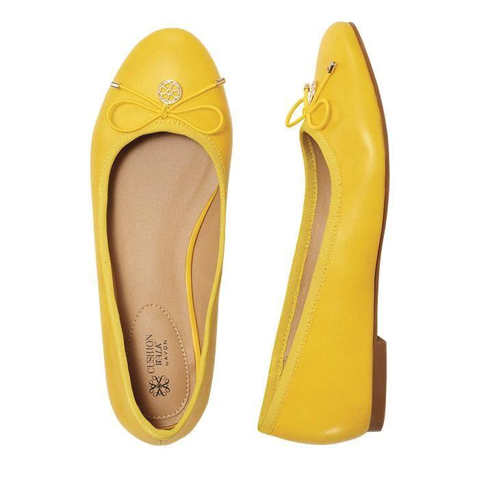 Cushion Walk Yellow Ballet Flats by #AVON#avonfashion#avonrep www.youravon.com/melissarivera