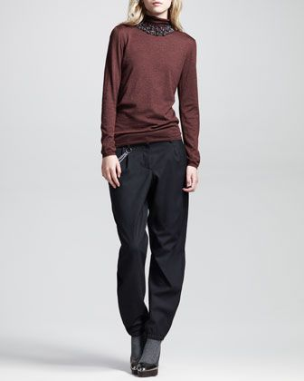 Slouchy Rock Chino Pants by Brunello Cucinelli at Bergdorf Goodman.