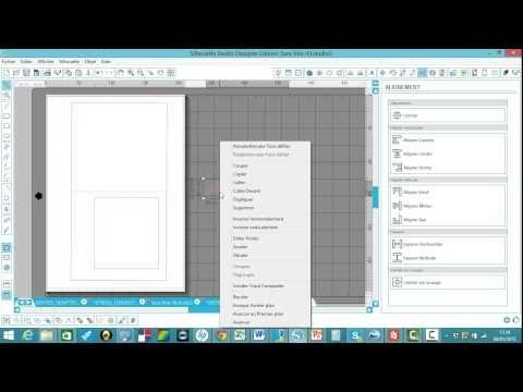 tuto créer une carte meilleurs voeux avec silhouette studio