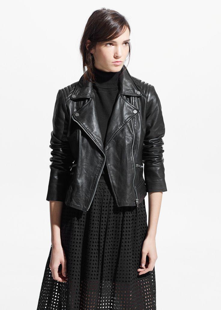Bikerjacke aus leder - Jacken für Damen | MANGO