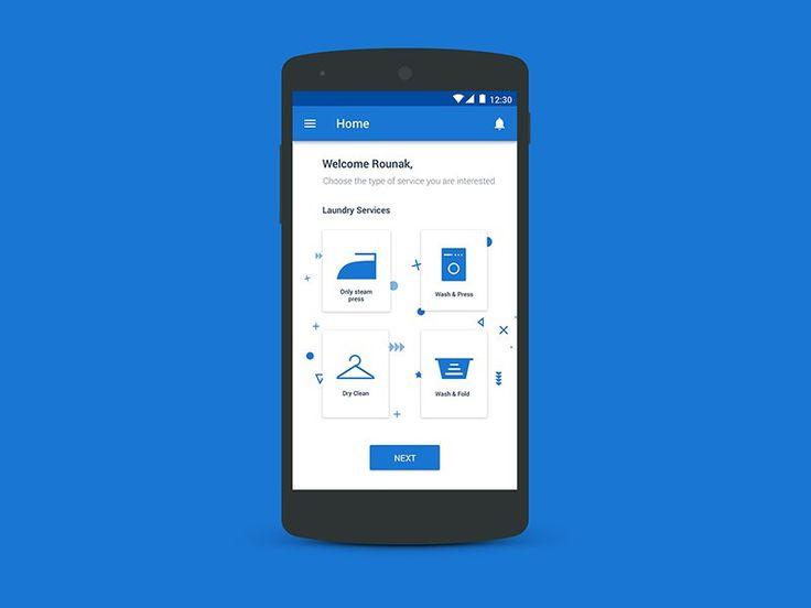Laundry App Home Screen