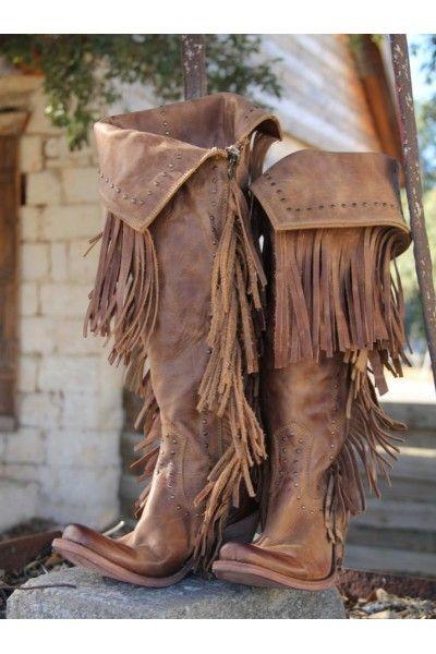 PRE-ORDER: Liberty Black Fringe Cowgirl Boots www.herringstonesboutique.com