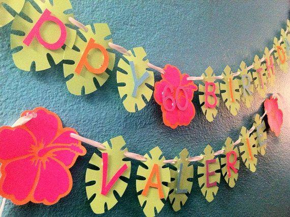 Hawaiian Luau Birthday Banner via Etsy