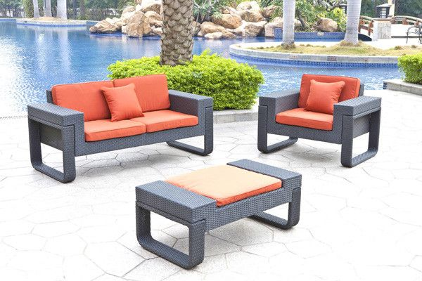 2017 hot sale all weather resin wicker led cube used hotel patio furniture for sale