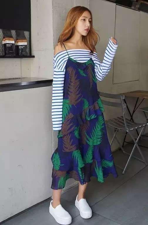 Бесплатная доставка корейский stylenanda старинные плечо оптовая офф мода старинные вкладыш слинг воланами шифона лонг платьекупить в магазине Harajuku girls' dressing sourceнаAliExpress