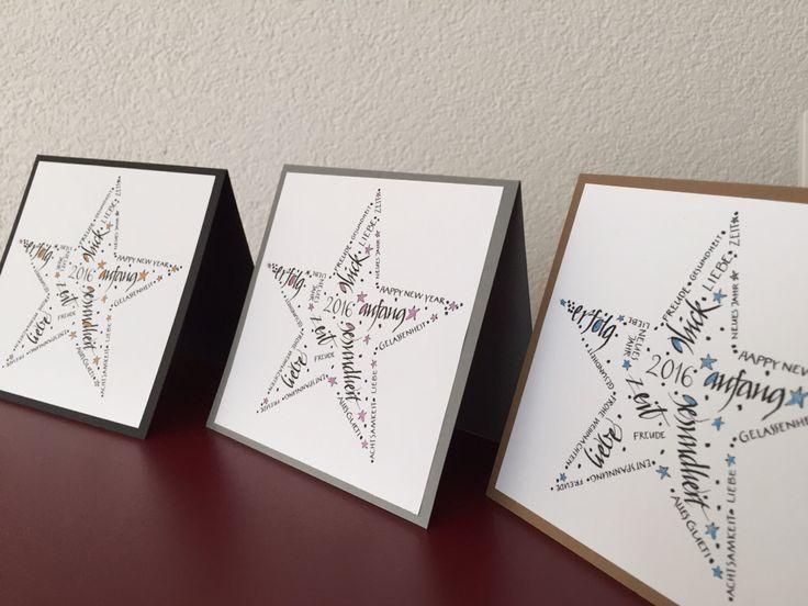 Weihnachtskarten 2015 2016 kalligraphie kalligraphie for Weihnachtskarten schreiben ideen