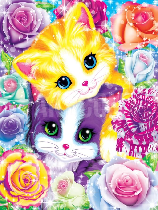 Kitten Roses Art Print by Lisa Frank at Art.com