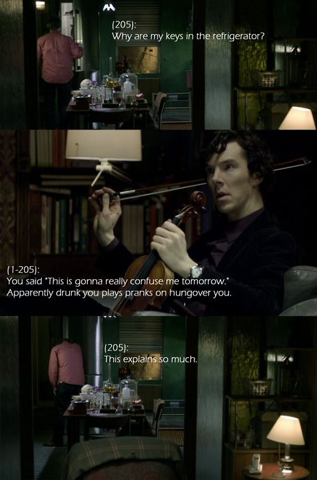 Sherlock reveals the perils of drinking.