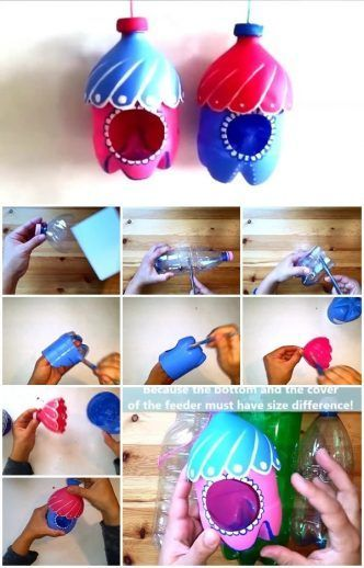 How to Make a Plastic Bottle Bird Feeder