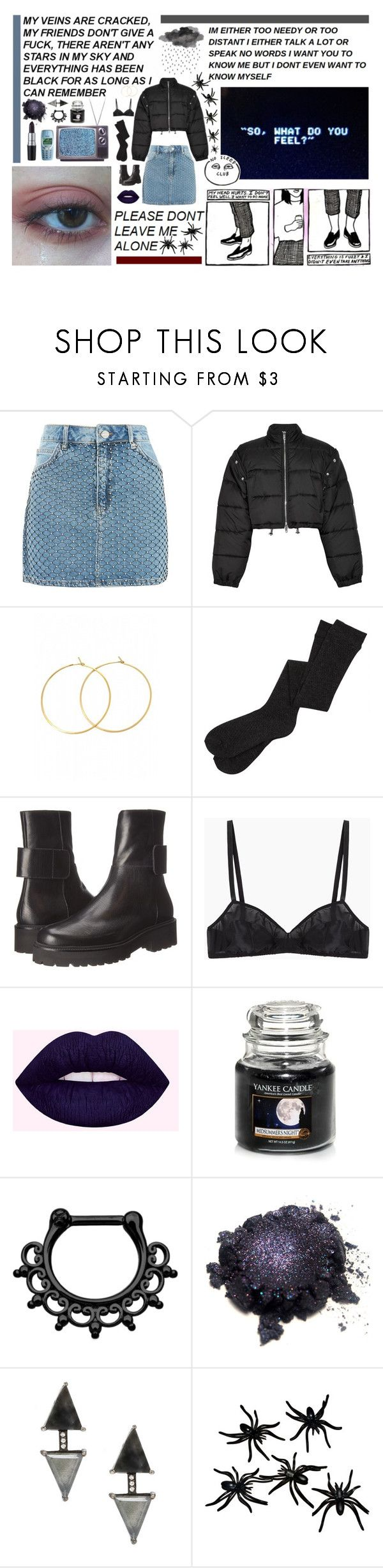 """guess I'll go home to my cats... alone..."" by kayleeinfinity ❤ liked on Polyvore featuring Topshop, 3.1 Phillip Lim, Charlene K, MM6 Maison Margiela, Araks, Nokia, Yankee Candle, M.A.C and ADORNIA"