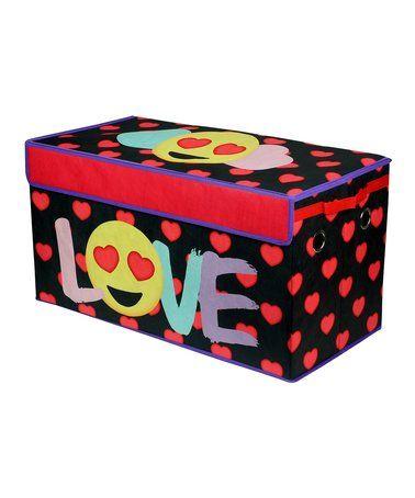 Look at this #zulilyfind! Black & Red Emoji 'Love' Collapsible Storage Box #zulilyfinds