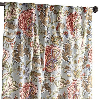 Floral Blue Meadow Curtain