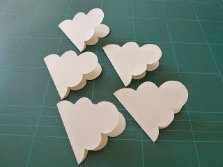 How to make 3d clouds for display board or for hanging mobile