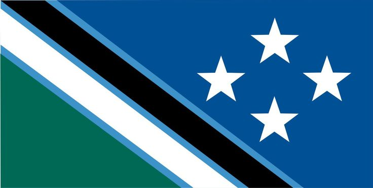 Southern Cross wih NZ Colourways by Roy Good, tagged with: black, blue, green, white, independence, nature, Stars.