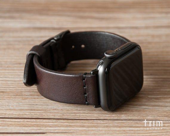 Apple Watch Band 44mm 38mm 40mm 42mm Men Women Leather Watch Etsy Apple Watch Bands Leather Apple Watch Bands Apple Watch Bands Mens