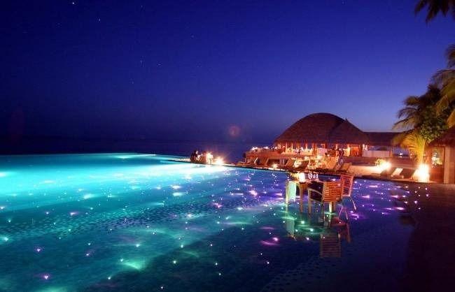 Huvafen Fushi Resort, Maldivas.