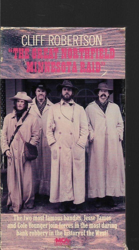 The Great Northfield Minnesota Raid Cliff Robertson Robert Duvall Western VHS