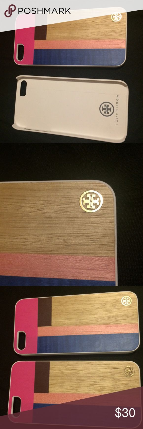 Tory Burch wood grain case for iPhone 5/5s Two available I can do both for $50 or 1 for $30 guaranteed authentic or your money back. Comes with a free gift  valued at $20. I can take more photos if you want me to. Tory Burch Other