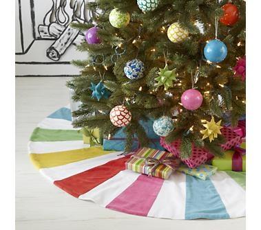 Tree Skirts: Rainbow Tree Skirt in Holiday Decor