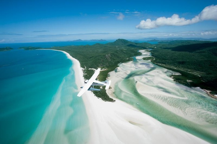 Fly with a seaplane to Whitehaven Beach #ILoveTravel
