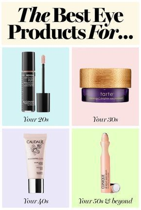 The best eye products for your 20's, 30's, 40's and more: from eye creams to wrinkle reducers #eyecreamsfor20s #eyecreamsfor30s #HomeMadeWrinkleEyeCream